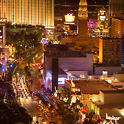 View of Las Vegas strip as seen from the Cosmopolitan.
