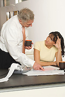 Woman Working with Accountant