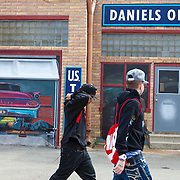 Murals in downtown Pontiac on historic U.S. Route 66. The Mother Road starts in Chicago traveling through 6 states and ending in Santa Monica, California.<br /> Photography by Jose More