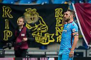 ARNHEM, Vitesse - de Graafschap, voetbal, Eredivisie seizoen 2015-2016, 20-09-2015, Stadion de Gelredome, Vitesse speler Guram Kashia heeft de 1-0 gescoord en salueert naar de veteranen op de tribune.