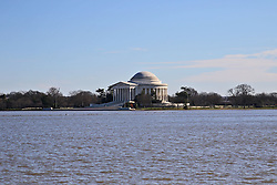 THEMENBILD - Blick auf das Jefferson Memorial vom Martin Luther King, Jr. National Memorial aus. Reisebericht, aufgenommen am 14. Jannuar 2016 in Washington D.C. // View of the Jefferson Memorial of Martin Luther King, Jr. Memorial from. Travelogue, Recorded January 14, 2016 in Washington DC. EXPA Pictures © 2016, PhotoCredit: EXPA/ Eibner-Pressefoto/ Hundt<br /> <br /> *****ATTENTION - OUT of GER*****