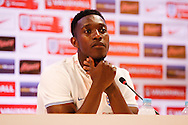 Danny Welbeck of England during the England press conference at Estádio Claudio Coutinho, Rio de Janeiro<br /> Picture by Andrew Tobin/Focus Images Ltd +44 7710 761829<br /> 16/06/2014