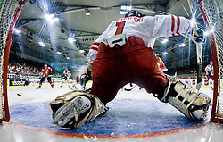 ZBOROWSKI Krzysztof  of Poland at IIHF Ice-hockey World Championships Division I Group B match between National teams of Hungary and Poland, on April 18, 2010, in Tivoli hall, Ljubljana, Slovenia. Hungary defeated Poland 6-0. (Photo by Vid Ponikvar / Sportida)