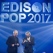 NLD/Amsterdam/201702013- Edison Pop Awards 2017, Eric Corton en Ruud de Wild