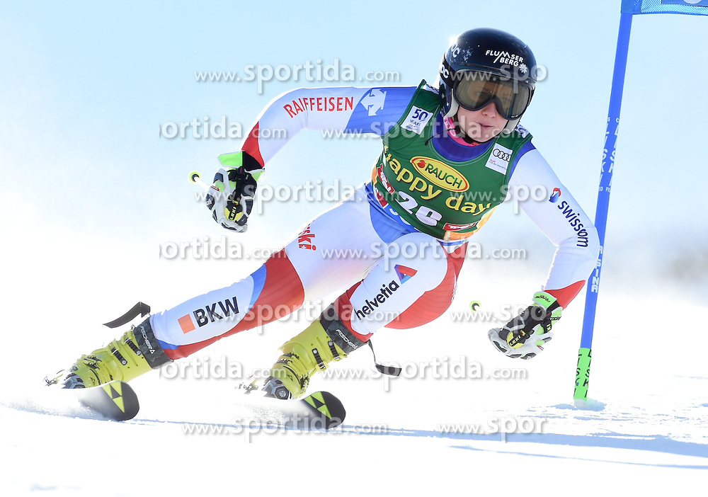 22.10.2016, Rettenbachferner, Soelden, AUT, FIS Weltcup Ski Alpin, Soelden, Riesenslalom, Damen, 1. Durchgang, im Bild Simone Wild of Switzerland // in action during 1st run of ladies Giant Slalom of the FIS Ski Alpine Worldcup opening at the Rettenbachferner in Soelden, Austria on 2016/10/22. EXPA Pictures © 2016, PhotoCredit: EXPA/ Erich Spiess