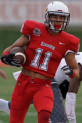 NORMAL, IL - September 08: Spencer Schnell during 107th Mid-America Classic college football game between the ISU (Illinois State University) Redbirds and the Eastern Illinois Panthers on September 08 2018 at Hancock Stadium in Normal, IL. (Photo by Alan Look)