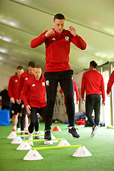 CARDIFF, WALES - Tuesday, November 13, 2018: Wales' James Chester during a training session at the Vale Resort ahead of the UEFA Nations League Group Stage League B Group 4 match between Wales and Denmark. (Pic by David Rawcliffe/Propaganda)