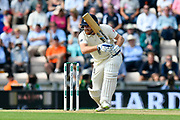 Jonny Bairstow of England batting during the first day of the 4th SpecSavers International Test Match 2018 match between England and India at the Ageas Bowl, Southampton, United Kingdom on 30 August 2018.