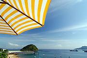 Panoramic view of Taboga island beach. Taboga, Panama, Central America.