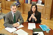 033020 King Felipe VI of Spain, Queen Letizia of Spain attend a videoconference with Red Cross Spain