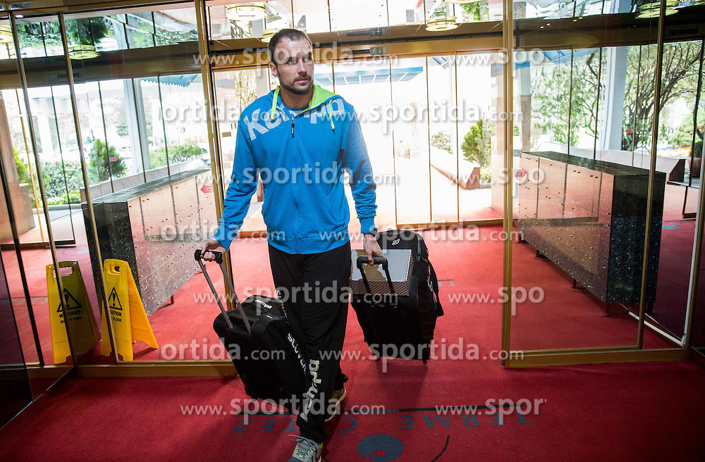Uros Zorman during first meeting of Slovenian National Handball Team for Olympics 2016 Qualifications, on April 1, 2016 in Terme Catez, Slovenia. Photo by Vid Ponikvar / Sportida