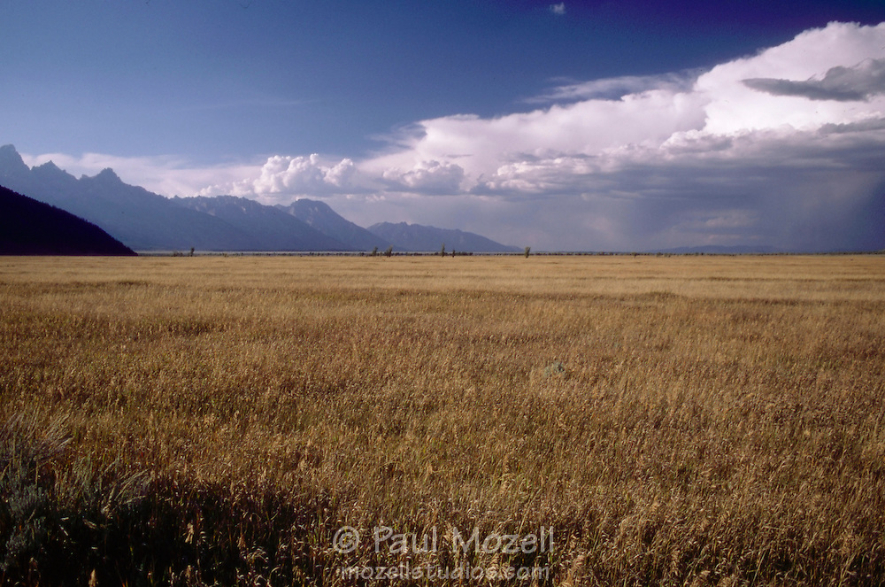 Distant thunderstorm in the Tetons