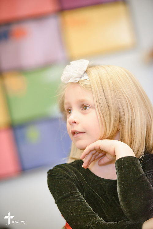 A young student listens during class on Friday, Oct. 28, 2016, at First Immanuel Lutheran School in Cedarburg, Wis. LCMS Communications/Erik M. Lunsford