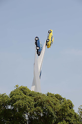 Art installation at the Cartier 'Style et Luxe' part of the Goodwood Festival of Speed, Goodwood House, West Sussex on 14th July 2013.