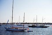 Mariella and Cangarda moored in Nantucket Harbor.