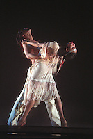 """Dance Theatre of Harlem<br /> Kelley A. Saunders and Duncan Cooper in Michael Smuin's """"Song For Dead Warriors""""<br /> <br /> Choreography: Michael Smuin<br /> Sets amd Costumes: Willa Kim"""