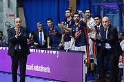 Esultanza panchina Valencia, EA7 EMPORIO ARMANI OLIMPIA MILANO vs VALENCIA BASKET, EuroLeague 2017/2018, PlalaDesio Desio 22 marzo 2018 FOTO: Bertani/Ciamillo