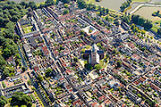 Nederland, Noord-Holland, Naarden, 05-08-2014; vesting Naardenmet Grote Kerk. De vestingplaats is onderdeel van de Hollandse Waterlinie.<br /> The fortified town of Naarden, star-shaped historical fortress.<br /> luchtfoto (toeslag op standard tarieven);<br /> aerial photo (additional fee required);<br /> copyright foto/photo Siebe Swart