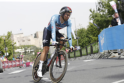 May 4, 2018 - Jerusalem, ISRAEL - Belgian Jens Debusschere of Lotto Soudal pictured in action during the first stage of the 101st edition of the Giro D'Italia cycling tour, an individual time trial (9,7km) in Jerusalem, Israel, Friday 04 May 2018...BELGA PHOTO YUZURU SUNADA FRANCE OUT (Credit Image: © Yuzuru Sunada/Belga via ZUMA Press)