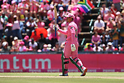 Quinton de Kock celebrates his 50 during the One Day International match between South Africa and England at Bidvest Wanderers Stadium, Johannesburg, South Africa on 9 February 2020.