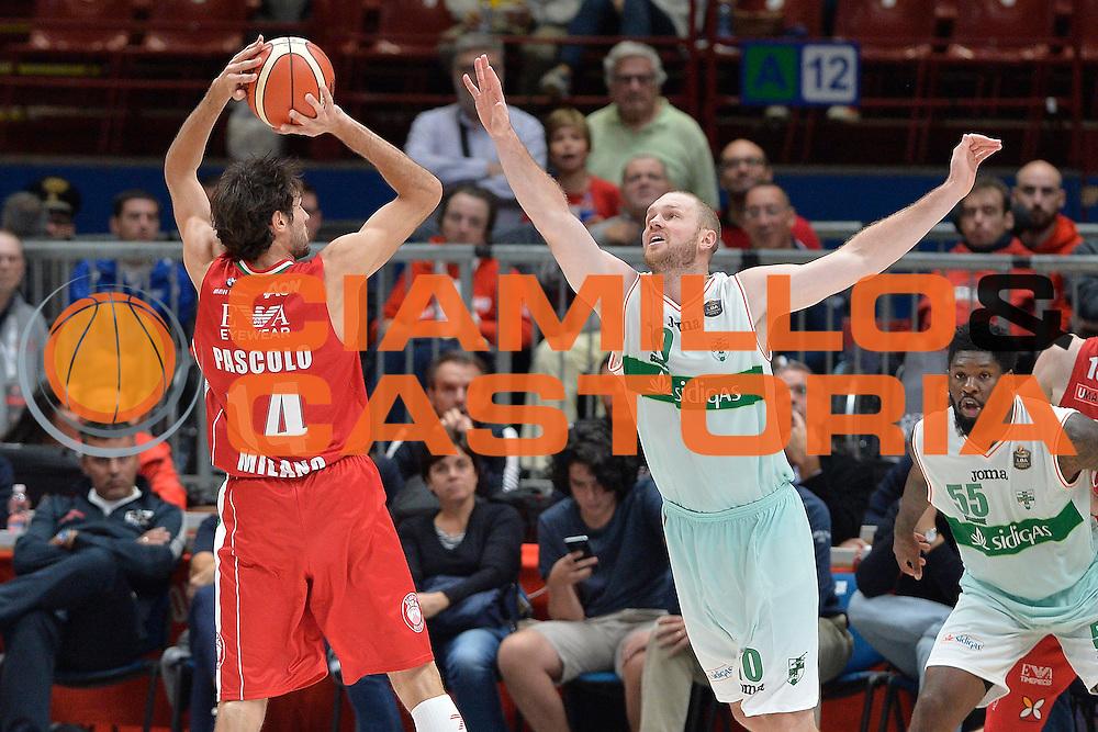 Davide Pascolo<br /> Olimpia EA7 Emporio Armani Milano Sidigas Scandone Avellino<br /> Basket serie A 2016/2017<br /> Cremona 09/10/2016<br /> Foto Ciamillo-Castoria<br /> Provvisorio
