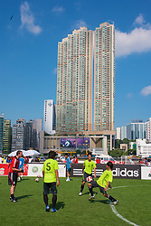 Hong Kong, China - Thursday, July 26, 2007: Players from across Asia take part in the Adidas Asia Challenge 2007 5-a-side event at the Tsimshatsui Drive-in Theatre in Hong Kong. (Photo by David Rawcliffe/Propaganda)