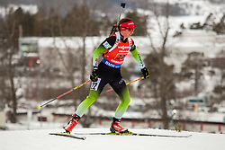 March 16, 2019 - –Stersund, Sweden - 190316 Urska Poje of Slovenia competes in the Women's 4x6 km Relay during the IBU World Championships Biathlon on March 16, 2019 in Östersund..Photo: Johan Axelsson / BILDBYRÃ…N / Cop 245 (Credit Image: © Johan Axelsson/Bildbyran via ZUMA Press)