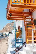 Greece, Kyklades, Milos, the little fisherman village called Klima