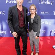 NLD/Amsterdam/20151011 - Inloop premiere De Tweeling, Frederik Brom en dochter Nele