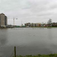 070119,hardenberg,nederland<br /> Hoogwater bij skyline van Hardenberg.<br /> fotografiefrankuijlenbroek&copy;2007 michiel van de velde