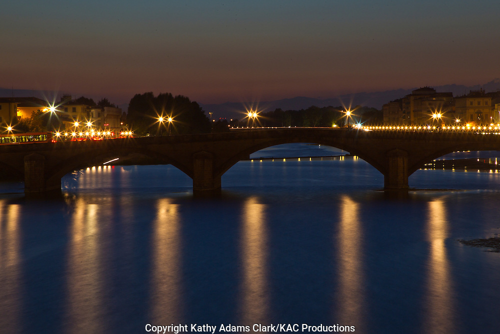The Arno River, and the Ponte alla Carraia, Florence, Italy, Fiume Arno, Firenze