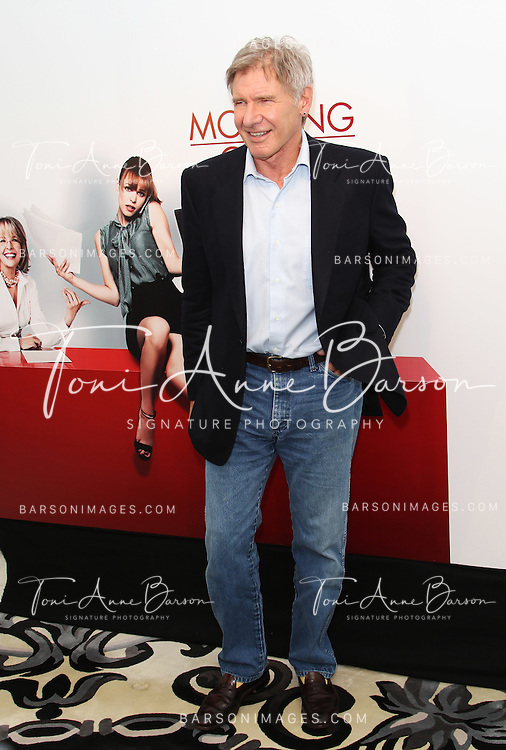 "PARIS - JANUARY 14:  Harrison Ford attendS ""Morning Glory"" Photocall at Hotel Meurice on January 14, 2011 in Paris, France.  (Photo by Tony Barson/FilmMagic)"