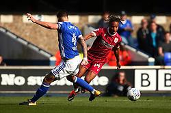 Bobby Reid of Bristol City goes past Luke Chambers of Ipswich Town - Mandatory by-line: Robbie Stephenson/JMP - 30/09/2017 - FOOTBALL - Portman Road - Ipswich, England - Ipswich Town v Bristol City - Sky Bet Championship