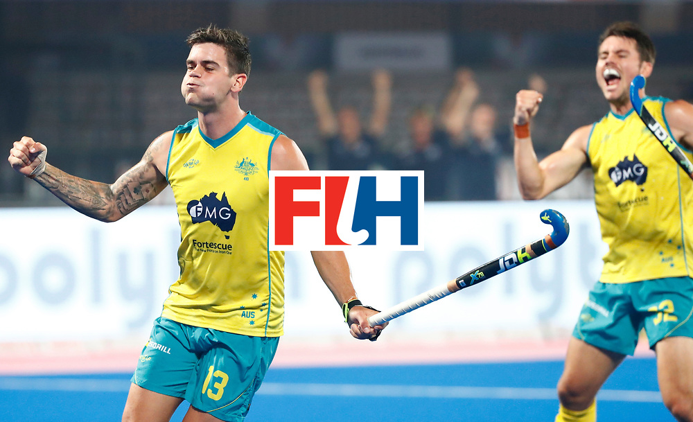 Odisha Men's Hockey World League Final Bhubaneswar 2017<br /> Match id:15<br /> Spain v Australia<br /> Foto: Australia scored a goal<br /> Blake Govers (Aus) <br /> COPYRIGHT WORLDSPORTPICS KOEN SUYK