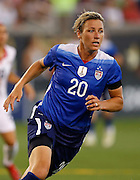 CHATTANOOGA, TN - AUGUST 19:  Forward Abby Wambach #20 of the United States runs during the friendly match against Costa Rica at Finley Stadium on August 19, 2015 in Chattanooga, Tennessee.  (Photo by Mike Zarrilli/Getty Images)