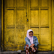 Portrait of a old woman in Malang city, Wast Java