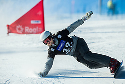 Rok Flander (SLO) competes during Qualification Run in Men's Parallel Giant Slalom of FIS Snowboard World Cup Rogla 2017, on January 28, 2017 at Course Jasa, Rogla, Slovenia. Photo by Vid Ponikvar / Sportida