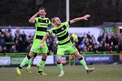 Joseph Mills of Forest Green Rovers scores a goal making it 1-1 - Mandatory by-line: Nizaam Jones/JMP- 09/02/2019 - FOOTBALL - New Lawn Stadium- Nailsworth, England - Forest Green Rovers v Notts County - Sky Bet League Two