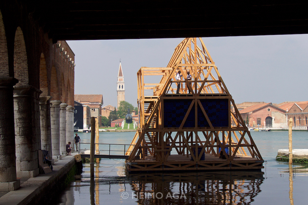 """Venice, Italy - 15th Architecture Biennale 2016, """"Reporting from the Front"""".<br /> Arsenale.<br /> NLÉ"""