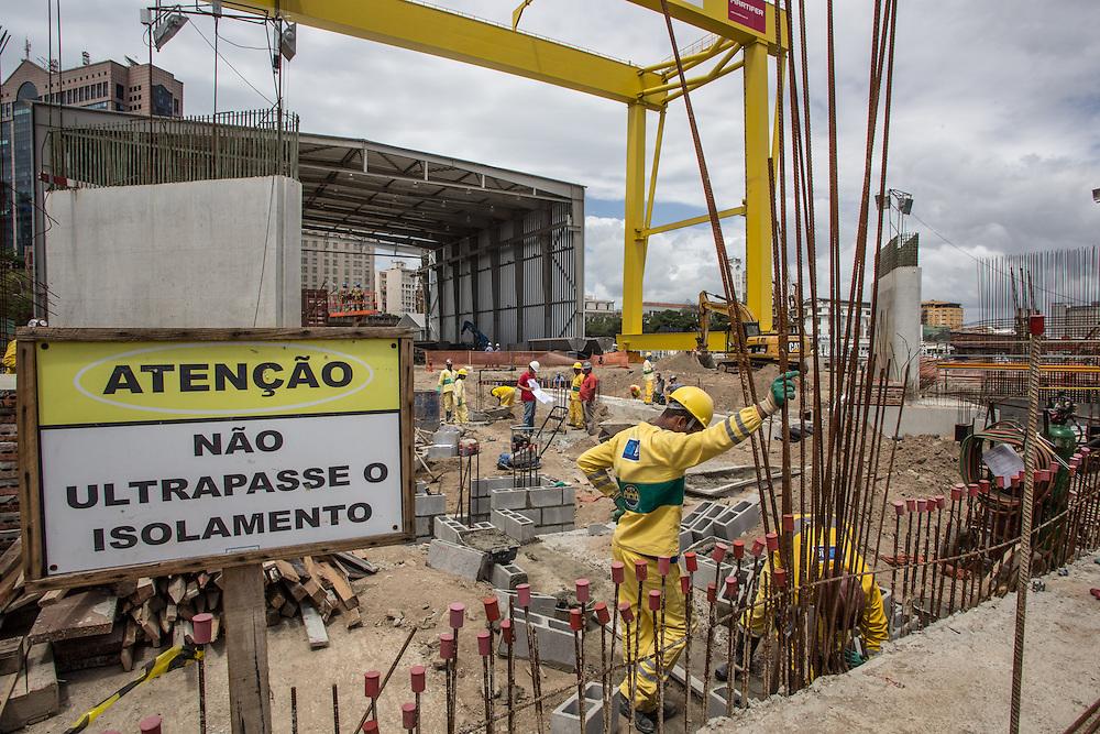 Rio de Janeiro, Museu do Amanha, project of Santiago Calatrava.
