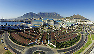 CAPE TOWN, SOUTH AFRICA - View of Table Mountain with the Victoria and Alfred Waterfront and the Table Bay hotel in the foreground..Photo by: Jacques Marais/ sportzpics.net