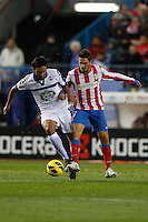 09.12.2012 SPAIN -  La Liga 12/13 Matchday 15th  match played between Atletico de Madrid vs R.C. Deportivo de la Courna (6-0) at Vicente Calderon stadium. The picture show  Juan Dominguez (Player of R.C. Deportivo)