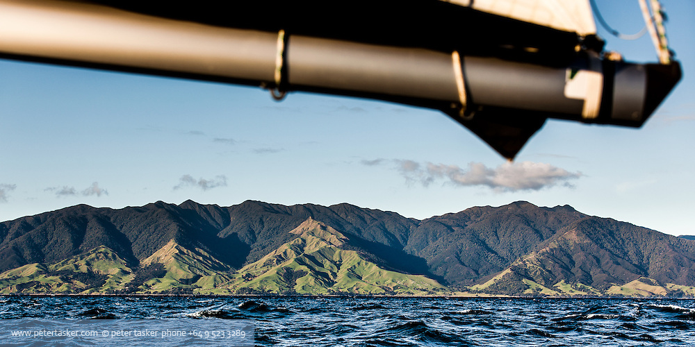 Coromandel Range. Viewed from the Firth of Thames looking at the North Western side of Coromandel Peninsula.