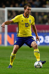 November 20, 2018 - Stockholm, Sweden - Jakob Johansson of Sweden in action during the UEFA Nations League B Group 2 match between Sweden and Russia on November 20, 2018 at Friends Arena in Stockholm, Sweden. (Credit Image: © Mike Kireev/NurPhoto via ZUMA Press)