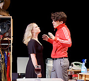 Touch <br /> by Vicky Jones <br /> at Soho Theatre, London, Great Britain <br /> press photocall 11th July 2017 <br /> <br /> <br /> <br /> <br /> Edward Bluemel as Paddy <br /> <br /> <br /> <br /> <br /> Amy Morgan as Dee <br /> <br /> <br /> <br /> <br /> Photograph by Elliott Franks <br /> Image licensed to Elliott Franks Photography Services
