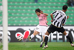 Pastore Javier Matias of Palermo vs Benatia Al Mouttaqui Medhi of Udinese during football match between Udinese Calcio and Palermo in 8th Round of Italian Seria A league, on October 24, 2010 at Stadium Friuli, Udine, Italy.  Udinese defeated Palermo 2 - 1. (Photo By Vid Ponikvar / Sportida.com)