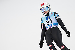 February 8, 2019 - Chiara Hoelzl of Austria on first competition day of the FIS Ski Jumping World Cup Ladies Ljubno on February 8, 2019 in Ljubno, Slovenia. (Credit Image: © Rok Rakun/Pacific Press via ZUMA Wire)