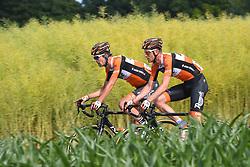 June 17, 2017 - Schaffhausen, Suisse - SCHAFFHAUSSEN, SWISS - JUNE 17 : WEENING Pieter of Roompot - Nederlandse Loterij during stage 8 of the Tour de Suisse cycling race, a stage of 100 kms between Schaffhaussen and Schaffhaussen on June 17, 2017 in Schaffhaussen, Swiss, 17/06/2017 (Credit Image: © Panoramic via ZUMA Press)
