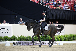 Kirk Thinggaard Agnete, (DEN), jojo AZ <br /> Training session<br /> Reem Acra FEI World Cup™ Dressage Finals <br /> Las Vegas 2015<br />  © Hippo Foto - Dirk Caremans<br /> 15/04/15