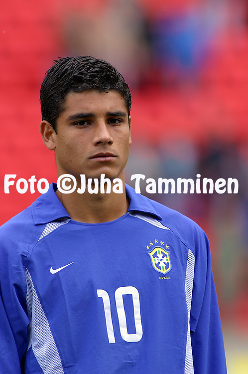 27.08.2003, Ratina Stadium, Tampere, Finland..FIFA U-17 World Championship - Finland 2003.Match 29: Semi Final - Colombia v Brazil.Ederson - Brazil.Full name: Ederson Honorato Campos.©Juha Tamminen